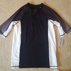 Cat and Jack brand new short sleeve zip up